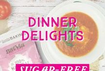 Dinner Delights / Sit back an enjoy our delicious selection of #sugarfree, #vegan, and #glutenfree dinner delights.