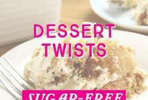 Dessert Twists / Try out these fun dessert twists! Combining some of our favourite dishes into one delicious #sugarfree dessert treat, these dessert twists are a must-try!