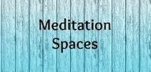 Meditation Spaces / Create an inspiring and peaceful meditation and yoga space at home, in your garden, backyard. Make it cosy and colourful.
