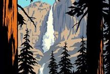 National Parks / A collection of National Parks inspired art and design.