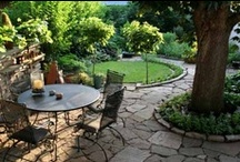 Outdoor living / Inspiration for creating our own outdoor living space... garden, deck, shelter from the sun, maybe even an outdoor kitchen one day.