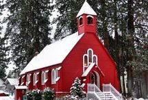 {country} Churches / There's something beautiful about a country church.