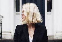 BLEACHED SHORT HAIR / For hair cut