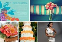 Virginia Beach Wedding / Sunset themed wedding with Bright Pink, Coral, Marigold and Smokey Purple tones / by Meghan Fuss
