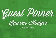 Guest Pinner : Art Can't Hurt / Lauren Hodges, Art Can't Hurt, is one of the most creative people we know. She is the first of our ReStore Guest Pinners. All of these various projects and ideas utilize materials found in our ReStore.  http://www.artcanthurt.typepad.com/