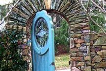 Doorways / Painted doors are the best.