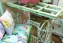 Singers {upcycled sewing machines} / Look at the super cool things people do with old Singer sewing machines!