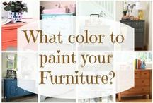 Furniture {painting it!} / I have so many pieces of furniture to paint ~ excited to restore them!