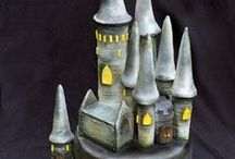 Castle Cakes / Cakes with castles.