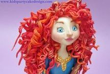 The Brave Cakes, Cake Topers and Figurines / Cakes, cake figurines and cake topers based on the Disney movie Brave