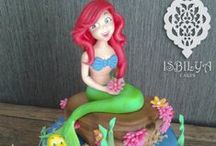 A Little Mermaid Cakes / Cakes, cupcakes and cake topers based on A Little Mermaid fairytale