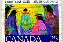 Christmas {postage stamps}