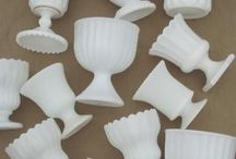"""WHITE"" Milk Glass! / Luisa's favorite collectible!"