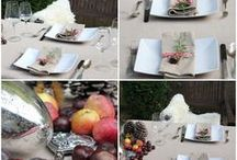 Table Settings / Tischdekoration in jeder Jahreszeit, setting your table in spring, summer, autumn and winter