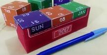 DIY idea for desk calendar / How to make (diy) simple daily display desk calendar at home with cubes made of cardsheet https://www.youtube.com/channel/UC_xMJ7EF_Vn7pDSShG1xEEA