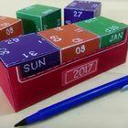 DIY  cubes calendar / How to make (DIY) easy desktop calendar with cube blocks made of cardsheet https://www.youtube.com/channel/UC_xMJ7EF_Vn7pDSShG1xEEA