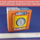 DIY  table decor calendar / How to make (DIY) simple desktop calendar for home decor with cubes made of cardsheet https://www.youtube.com/channel/UC_xMJ7EF_Vn7pDSShG1xEEA