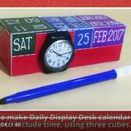 Daily display desk calendar / Can DAY-DATE-MONTH-YEAR display desk calendar be made with JUST THREE CUBES ???  How to make... https://www.youtube.com/channel/UC_xMJ7EF_Vn7pDSShG1xEEA