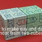 DIY perpetual calendar / How tomake (DIY) simple perpetual calendar with cubes made of cardsheet https://www.youtube.com/channel/UC_xMJ7EF_Vn7pDSShG1xEEA