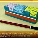 Novel calendar ideas / Novel ideas to make (diy) daily display desk calendar at home  https://www.youtube.com/channel/UC_xMJ7EF_Vn7pDSShG1xEEA