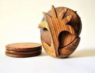 Wooden Coasters, wooden trivets, wooden dining ware / Handmade Wooden Coasters from Omar Handmade, wood gift. handmade wood, kitchenware, dining , beverage, food, dinner, coffee, tea, chai, table top, kitchen tiles, breakfast set