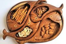 Wooden decorative plates, vintage plates, snack platters, unique dining gift, Healthy snack / Wooden decorative plates, snack platters, unique dining gift, Healthy snack, vintage plates, classic decor