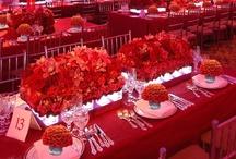events | orange & red