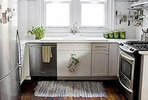 For The Kitchen. / Inspiration, Countertops, Decor, Pantry's, Color schemes, Cabinets, Wood for cabinets, Organization, Floors, Islands, Lighting fixtures.