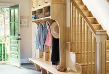 Front Hallways/Foyer, Mudroom, Inside Garage, Staircases, Entryways, & Screened-In Porches.. / Great looking decor ideas for mudrooms, Beautiful storage solutions for front hallways, Gorgeous stairways.