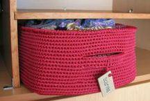 Hookin' Baskets, Boxes, & Bowls. / Free Patterns.