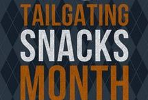 October is Tailgating Snacks Month / I'm super excited about October, and have a bunch of really fun & yummy Healthy Recipes lined up to share with you! October is Tailgating Snacks Month on Life Currents