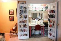 Rockin' Craft Rooms, Studio Spaces & Crafty Organization. / Design & organization inspiration for crafting.