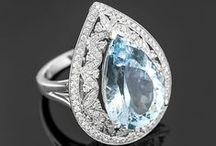 March Birthstones - Aquamarine / Aquamarine is March's birthstone! Celebrate those in your life with March birthdays by giving them the gift of aquamarine!