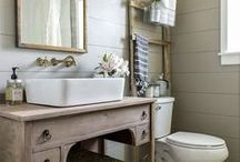 the bathroom decor & diy projects / rustic, farmhouse and industrial style bathrooms for ideas and inspiration