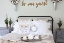 bedroom decor and inspiration / bedroom decor, bedroom inspiration, bedroom decorating ideas,