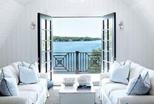 Summer Inspired / Homes and rooms that are born when the sun is at most prevalent. Think bright, Mediterranean, open