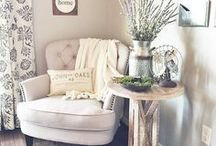 cozy home decor ideas & inspiration / farmhouse, industrial and rustic cozy nooks that inspire