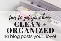 home organization / tips and tricks for keeping an organized home