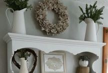the winter decor / winter home decor projects and inspiration