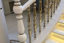 """История создания """"Лестница из искусственного камня"""". Дизайн Акриловый камень. / Лестница в доме и интерьере. Дизайн лестницы и ее монтаж. Белая красивая лестница с подсветкой. Искусственный акриловый камень в интерьере. Лестница из акрила и камня.  Золото и белый цвет в интерьере дома, квартиры, дизайне. Искусственный камень в интерьере и дизайне.  Design Home indastrian."""
