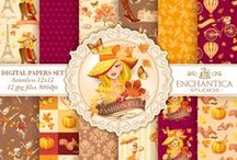 Fall Autumn Digital Paper Packs / Fall Autumn Digital Paper Packs bring out the magical spirit of the season!. All Seamless Patterns. Use it in any project and have fun! Perfect for crafts, scrapbooking, fabric, decor, stationery, gits an more!