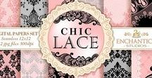 Lace Digital Paper Packs / Lace Digital Paper Packs fora super stylish statement!. All Seamless Patterns. Use it in any project and have fun! Perfect for crafts, scrapbooking, fabric, decor, stationery, gits an more!