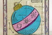 Tim Holtz Blueprint Stamp Projects