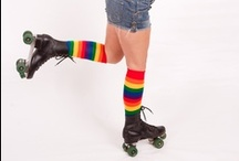 Colorful Knee Socks / Colorful and Crazy Knee Socks that are just fun the wear! while working out
