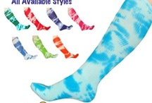 Tie Dye Knee Socks / Tie Dye Knee High Socks in an assortment of colors