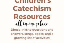 Teaching the Children's Catechism / Teaching the Children's Catechism, Catechism for Young Children, An Introduction to the Shorter Catechism, Kids' Catechism, First Catechism for Children, Westminster Shorter Catechism for Children to your kids or in a church setting! Includes songs, books, activities, crafts, printables, and more!