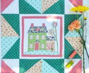 I Love Home Free Block of the Month / Join us for the I Love Home Free Block of the Month! This sew along features house quilt blocks, with options for piecing, applique and embroidery! jacquelynnesteves.com/i-love-home-block-of-the-month/