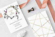 Invitations & Save the Dates / Beautiful, modern invitations by Flamboyant Invites