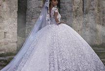Wedding dress+Queen Gowns+wedding