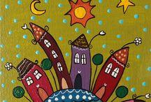Рисунки / Стилизованные рисунки и узоры для росписи  разными материалами. Я работаю акриловыми красками. Многие идеи пригодятся для работы с детьми.